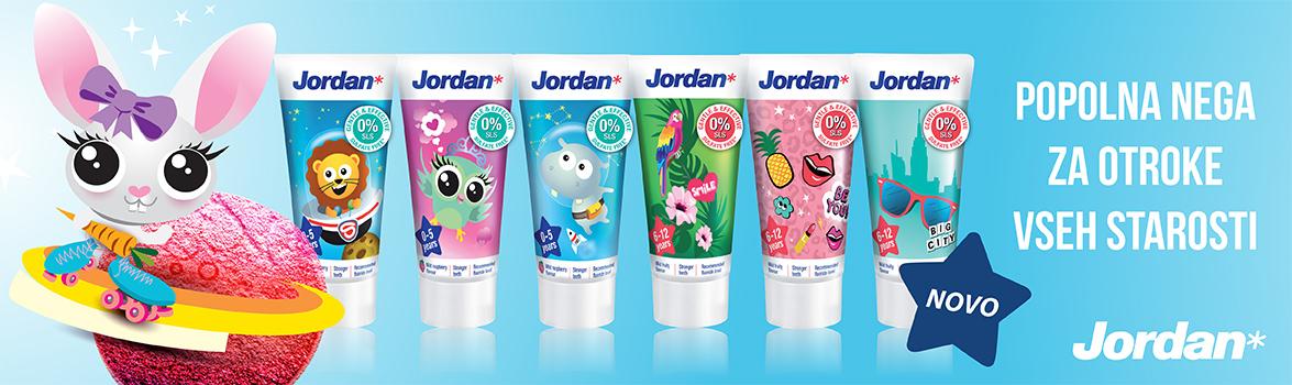 Zobne paste za otroke Jordan