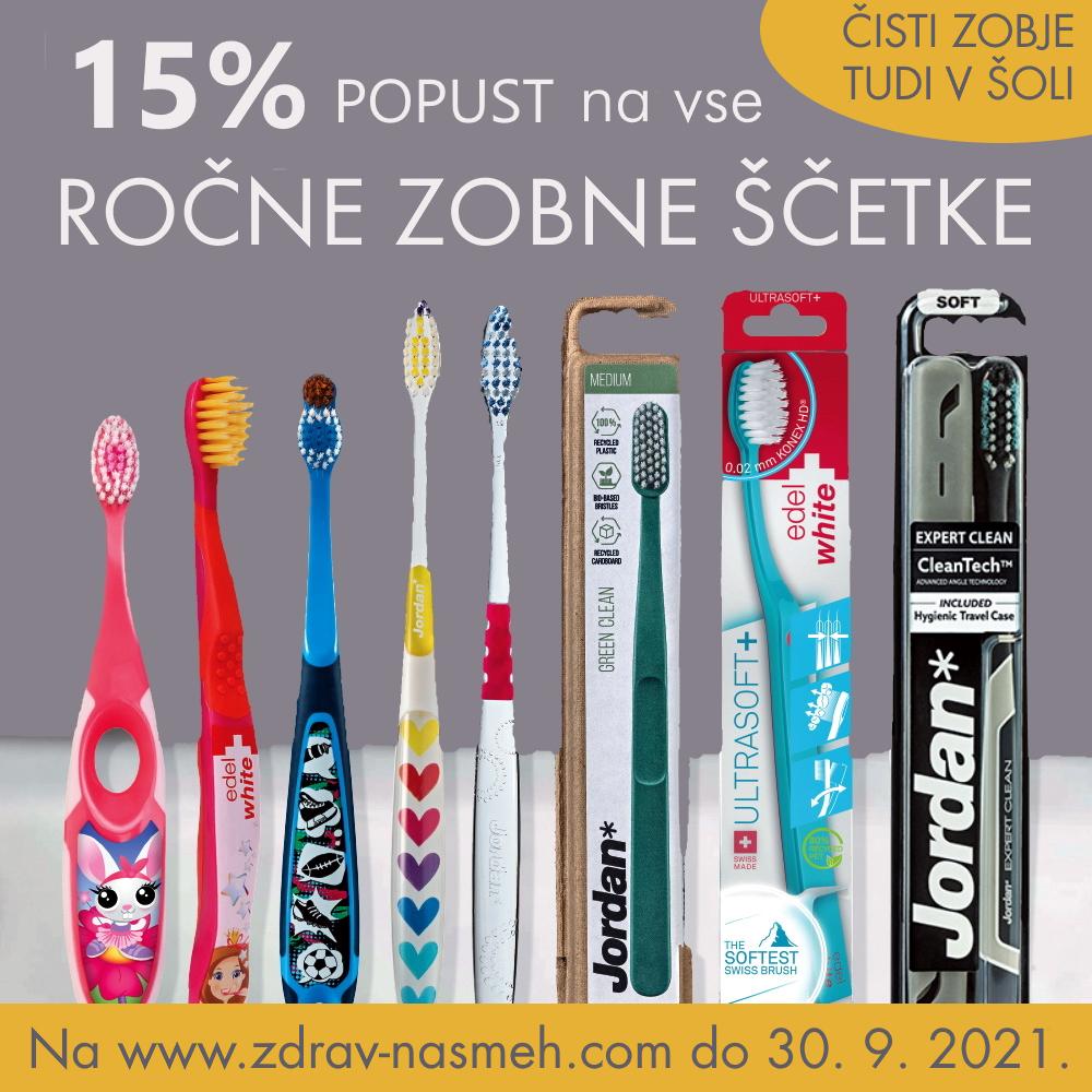 Popust na vse ročne zobne ščetke