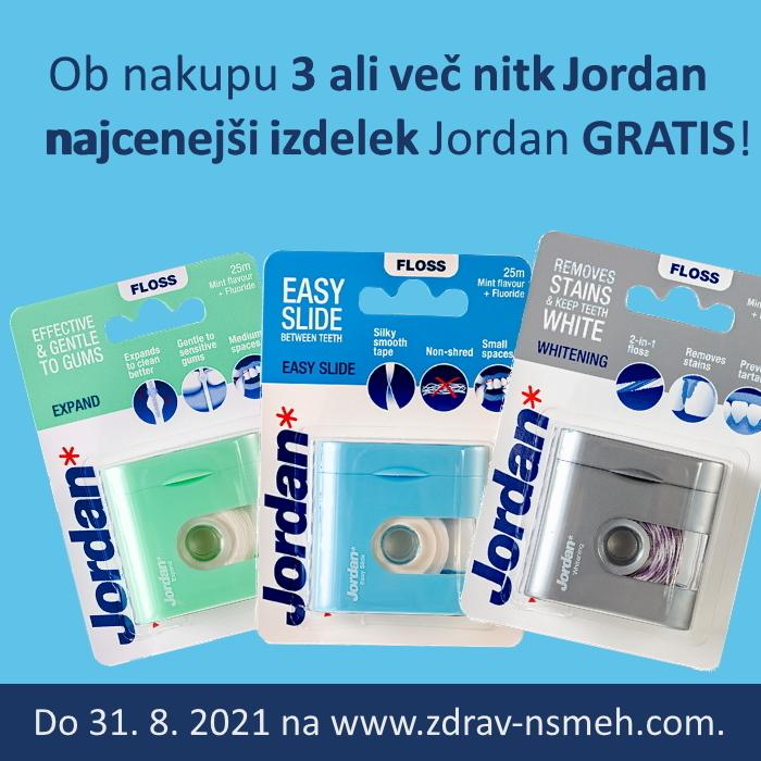 Jordan - najcenejši izdelek GRATIS