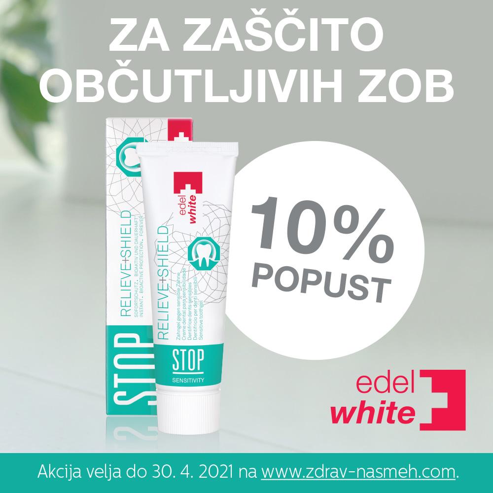 Zobna pasta Edel+White STOP