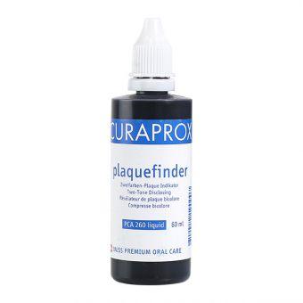 Tekočina CURAPROX Plaquefinder za razkrivanje zobnih oblog