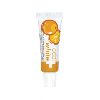 Pomaranča Edel+White 7 Früchtli, otroška zobna pasta