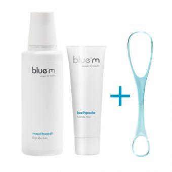 Bluem paket: ustna voda, 250 ml in zobna pasta, 75 ml + DARILO